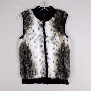 Vintage | Brown Faux Fur-Lined Vest